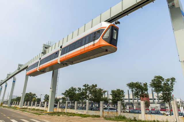 CRRC Suspended Monorail interior